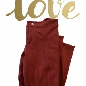 Burgundy Capri INC PANTS.  SIZE 6p